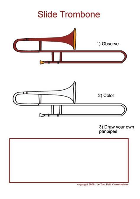 trombone drawing