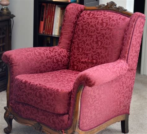 how to reupholster a wingback armchair the adventures of mrs mayfield how to reupholster an