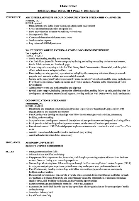 sle objectives in resume for ojt mass communication communication resume exles resume template easy