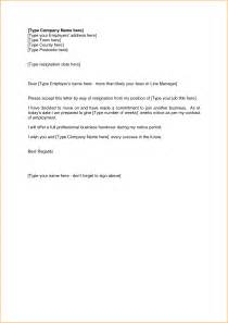 Resignation Letter Sle Two Weeks Notice by 9 2 Week Resignation Letter Basic Appication Letter