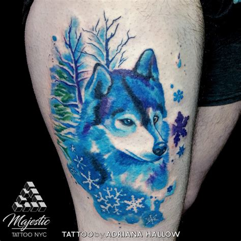 watercolor tattoo in nyc tattoos by hallow majestic nyc