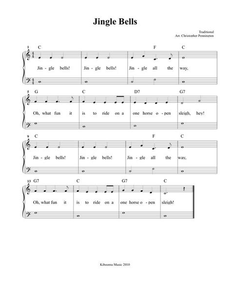 printable version of jingle bells jingle bells piano sheet music full version free jingle