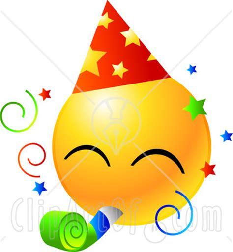emoji ulang tahun image 22160 clipart illustration of a yellow emoticon