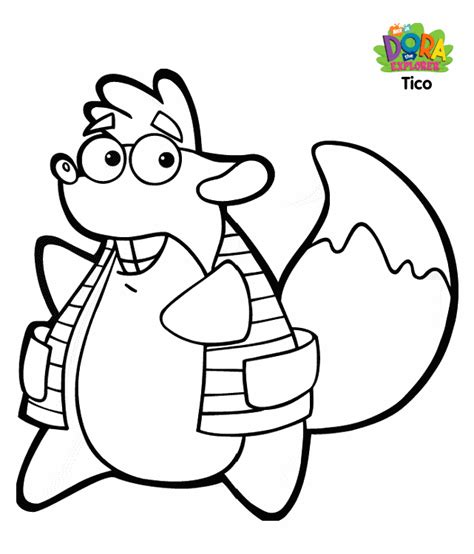 dora coloring pages youtube tico coloring pages an important character in dora the