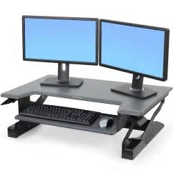 sit stand desk top workstation sit stand ergotron 33 397 085 workfit t desktop workstation