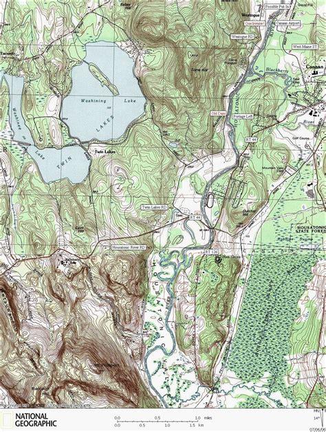 housatonic river map housatonic river canoe kayaking map weatogue area
