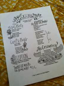Customizable Wedding Programs Items Similar To Custom Wedding Programs On Etsy