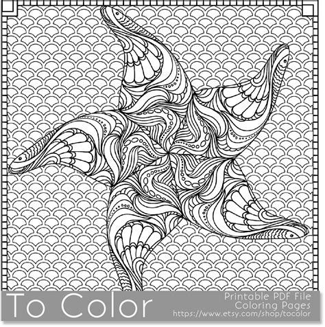 printable starfish coloring page  adults  jpg