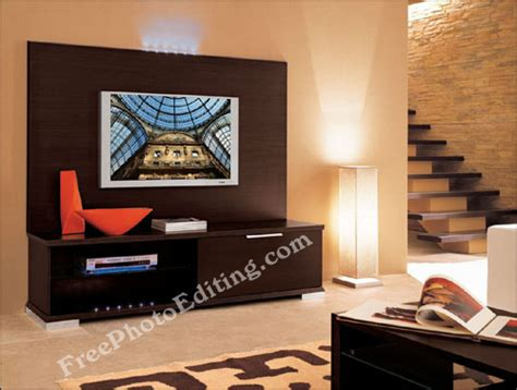 Wobble Lcd Clock Adds To Room by Free Photo Editing Visual Placed On Blank Lcd Tv Screen