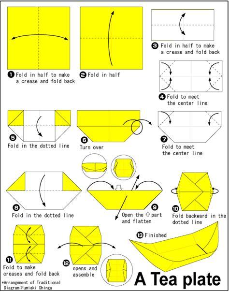 Origami Plates - origami tea plate