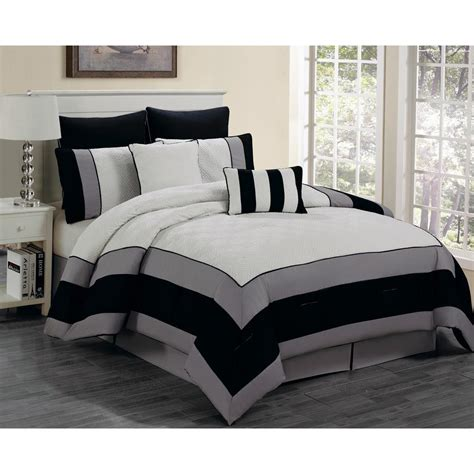 duck river comforter set duck river spain white black 8 piece king comforter set