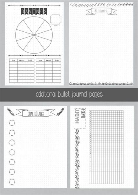 bullet journal monthly printable printable bullet journal
