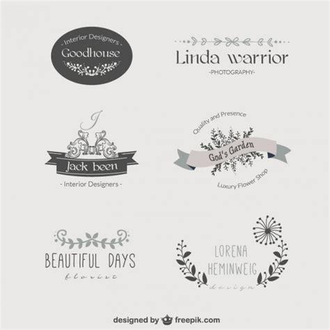 free vintage logo design templates vintage floral template logos vector free download