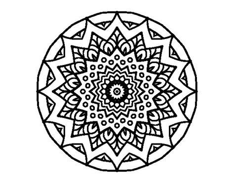 imagenes mandalas arabes dibujo de mandala creciente para colorear dibujos net