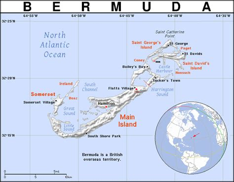 printable road map of bermuda full political map of bermuda bermuda full political map