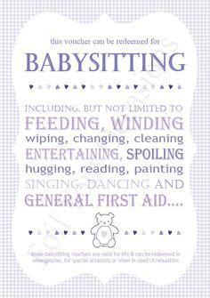 babysitting voucher template free babysitting gift certificate fully customizable