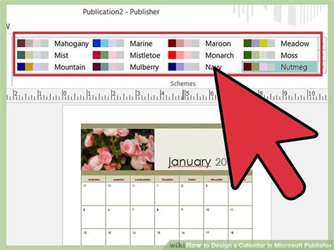 How To Create Calendar In Publisher