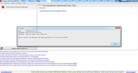 wic reset key epson sx130 epson reset 101