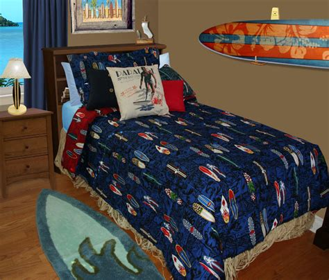 dean miller bedding surfboard beddimg beach style bedroom orange county