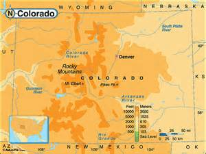colorado physical map by maps from maps world s