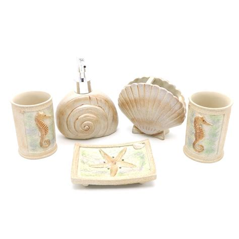 Beach Seashells Bathroom Accessories Ivory Ocean Starfish Starfish Bathroom Accessories