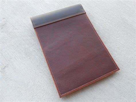 leather notepad cover two toned leather steno notepad
