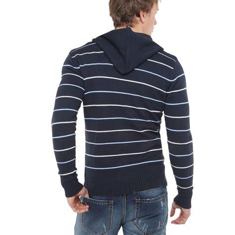 Jaket Hoodie Jumper Size Xxxl mens striped knitted hooded cardigan jumper sweater hoodie