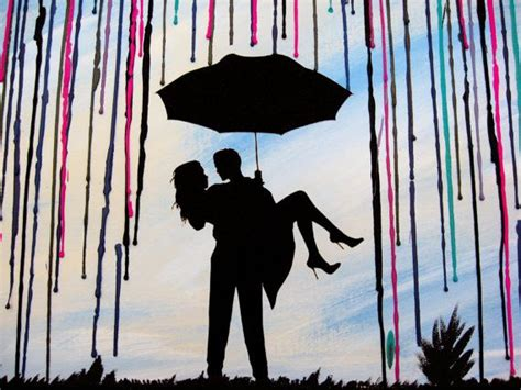 couple wallpaper with umbrella 36 best wedding gifts art images on pinterest crayon art