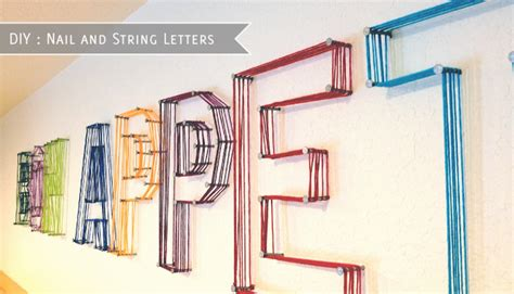 String Letters - nursery notations new takes on wall letters