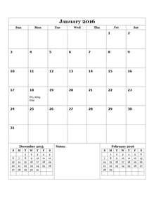 2016 Monthly Calendar Template by 2016 Monthly Calendar Template 14 Free Printable Templates
