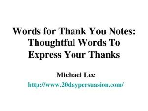 Thank You Letter Vocabulary Thanks For Your Thoughtfulness Quotes Quotesgram