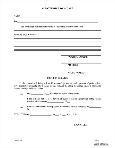Notice To Vacate Form Florida Form Resume Exles Ealwnblz3q Florida 30 Day Notice To Vacate Template