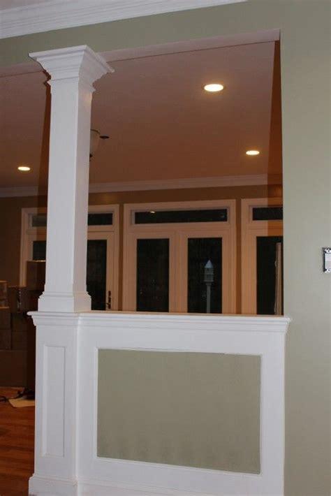 half wall half wall column home ideas drywall