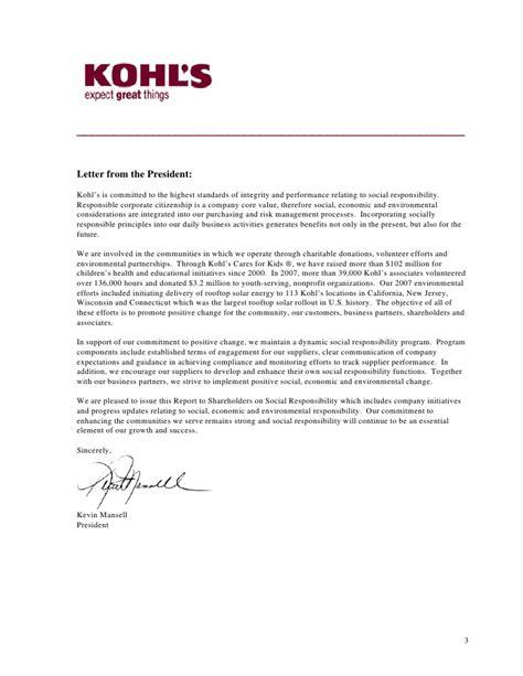 kohl s corporate governance documentation report