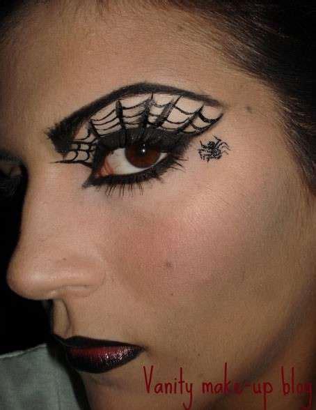 tutorial di makeup per halloween trucchi per un look halloween trucco fai da te a ragnatela foto nanopress