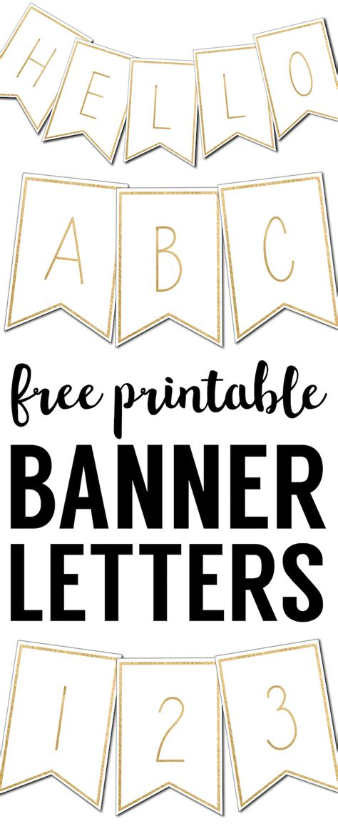 printable banner letters templates paper trail design