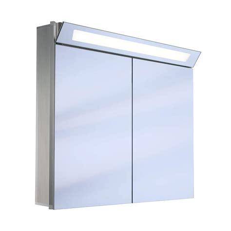 schneider mirrored bathroom cabinet schneider capeline 2 door illuminated mirror cabinet 1000mm