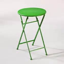 green metal outdoor table green metal folding accent table outdoor and patio