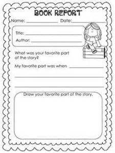 Book Report Template Grade 1 by Printable Book Report Forms Elementary Book And Book