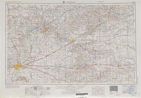 map of texas showing amarillo amarillo topographic maps tx usgs topo 35100a1 at 1 250 000 scale