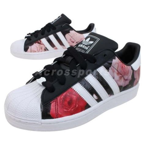 details about adidas originals superstar 2 w ii floral womens classic casual shoes