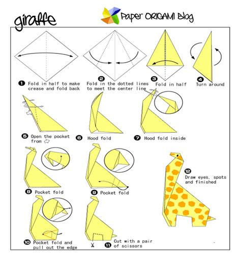 How To Make Paper Giraffe - animals origami giraffe origami paper origami guide
