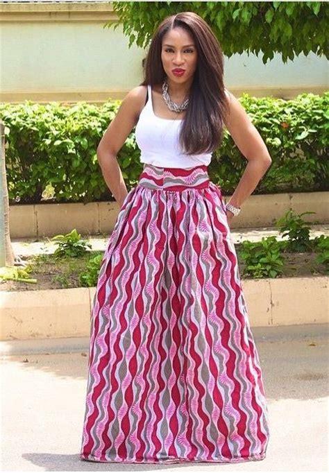 maxi skirt jupe longue en wax africa maxi