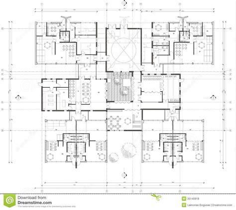 drawing plans floor plan of the kindergarten stock illustration