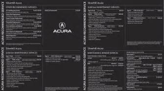 calgary acura suggested maintenance schedule changes