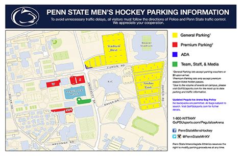 psu parking map penn state pegula arena official athletic site