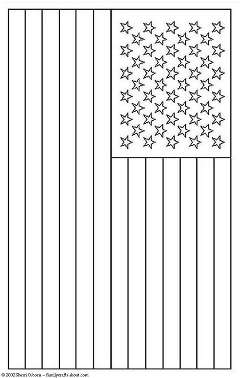 flag to colour template free american flag coloring pages