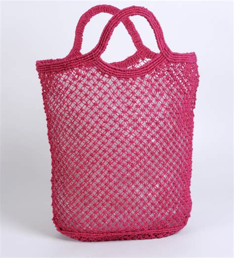 Macrame Shopping Bag - jute macrame shopping bag