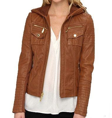 Jaket Hoodie Smile Brown 17 best ideas about hooded leather jacket on