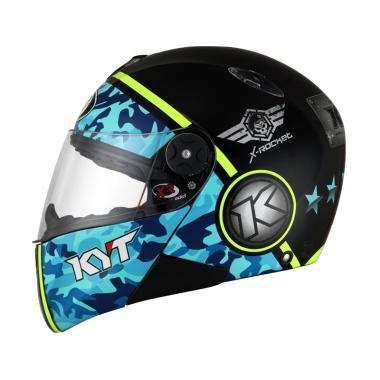 Helm Kyt Vendetta Gp Cruise White Blue jual helm kyt baru aman kuat harga murah blibli